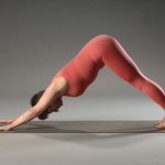 Lisa Schmidt demonstrates a variation of down dog